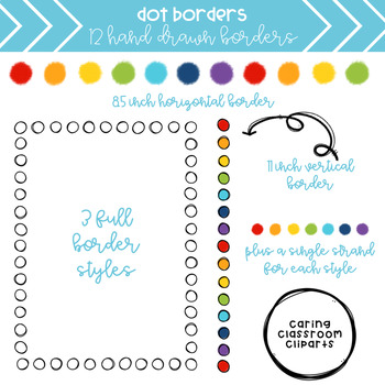 Rainbow Dot Borders + Build Your Own Pattern