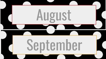 Rainbow Dot Calendar