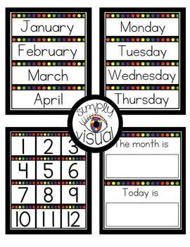 Classroom Labels with Rainbow Dots EDITABLE