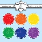 Rainbow Dot Frames Clip Art