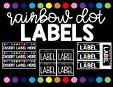Rainbow Dot Labels