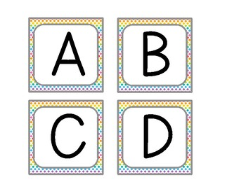 Rainbow Dot Labels A-Z! {Fits Target Adhesive Pockets!}