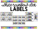 Rainbow Dot Labels (White)