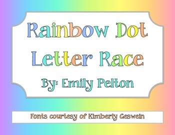 Rainbow Dot Letter Race!