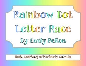 Rainbow Dot Letter Race!