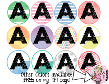 Rainbow Dot Library Labels