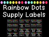 Rainbow Dot Room and Supply Label Cards (Over 250+ Labels!)