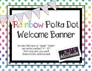 Rainbow Dot Welcome Banner