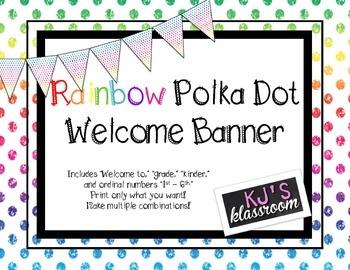 Rainbow Dot Welcome Banner