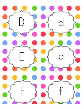 Rainbow Dot Word Wall Alphabet