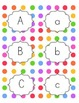 Rainbow Dot Word Wall Alphabet and Sight Words