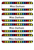 Rainbow Dot draw name labels