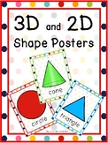 Rainbow Dots 3D and 2D Shape Posters