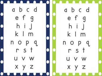 Rainbow Dots Alphabet Cards