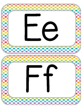 Rainbow Dots Alphabet/Word Wall Letters