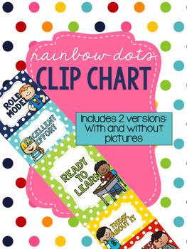 Rainbow Dots - Behavior Clip Chart