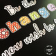 Rainbow Dots Bulletin Board Letters