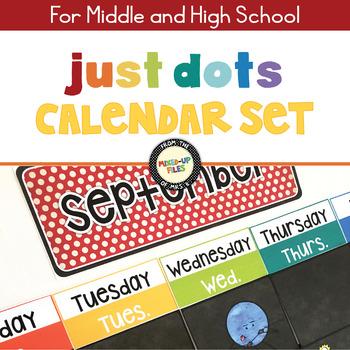 Rainbow Dots Calendar Set