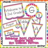 Rainbow Dots Classroom Theme Pack