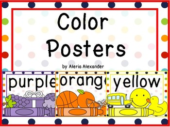 Rainbow Dots Color Posters