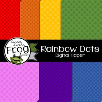 Rainbow Dots Digital Paper