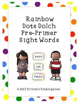 Rainbow Dots Dolch Pre-Primer Sight Words
