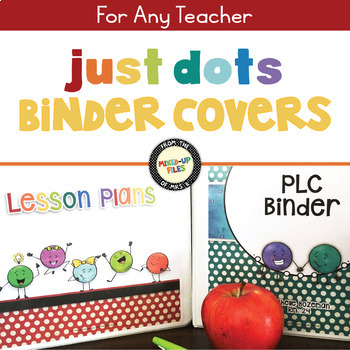 Rainbow Dots Editable Binder Covers