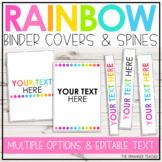 Rainbow Dots Editable Binder Covers