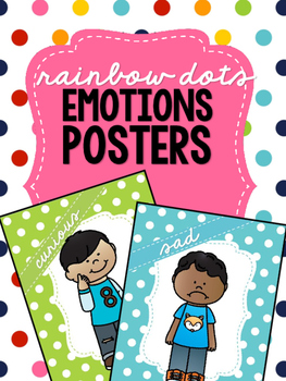 Rainbow Dots - Emotions Posters