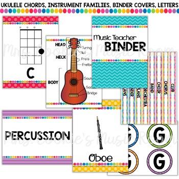Rainbow Dots Music Room Décor Bundle