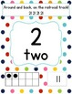 Rainbow Dots Number Posters