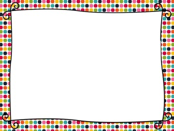 Rainbow Dots PowerPoint Template by Embellished Angel Designs   TpT
