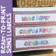 Rainbow Dots Editable Labels