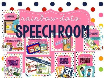 Rainbow Dots - Speech Room Decor Bundle #june17slpmusthave