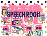 Rainbow Dots - Speech Room Decor Bundle #jun2018slpmusthave