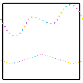Rainbow Dots Tracing Lines Clip Art Set for Commercial Use