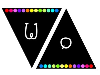 Rainbow Dots Word Wall Banner and Headers