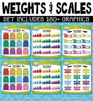 Rainbow Weights and Scales Clipart — Over 160 Graphics!