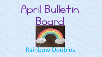 Rainbow Doubles!  A March Bulletin Board Craft