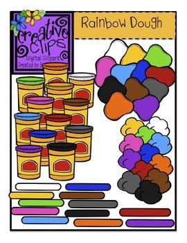 Rainbow Dough {Creative Clips Digital Clipart}