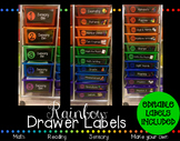 Rainbow Drawer Labels