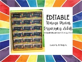 Rainbow Drawer Labels - Editable