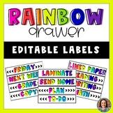 Rainbow Drawer Labels Editable