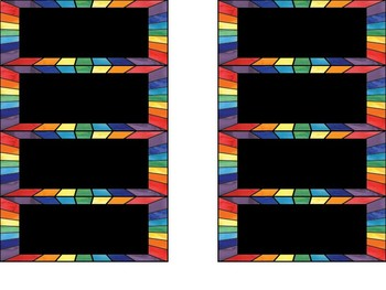 Rainbow Drawer Labels - For Seville Classic Drawers or the classroom (EDITABLE)