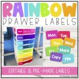Rainbow Drawer Labels Freebie