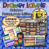 Rainbow Chevron Drawer Labels- Melonheadz Edition