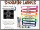 Rainbow Drawer Labels (editable)