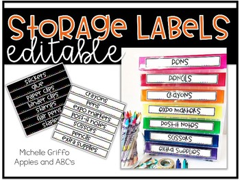 Rainbow Drawer Labels (editable)