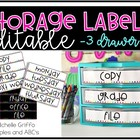 3 Drawer Storage Labels (editable)