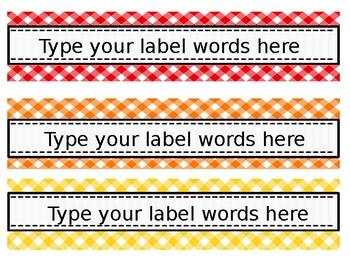 Rainbow Drawers EDITABLE Labels